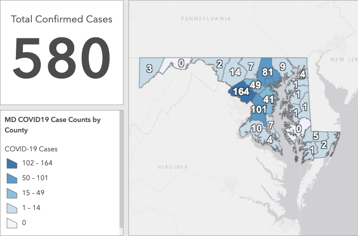 MD Health Officials Report 40% Increase in Covid-19 Cases in 24 Hours
