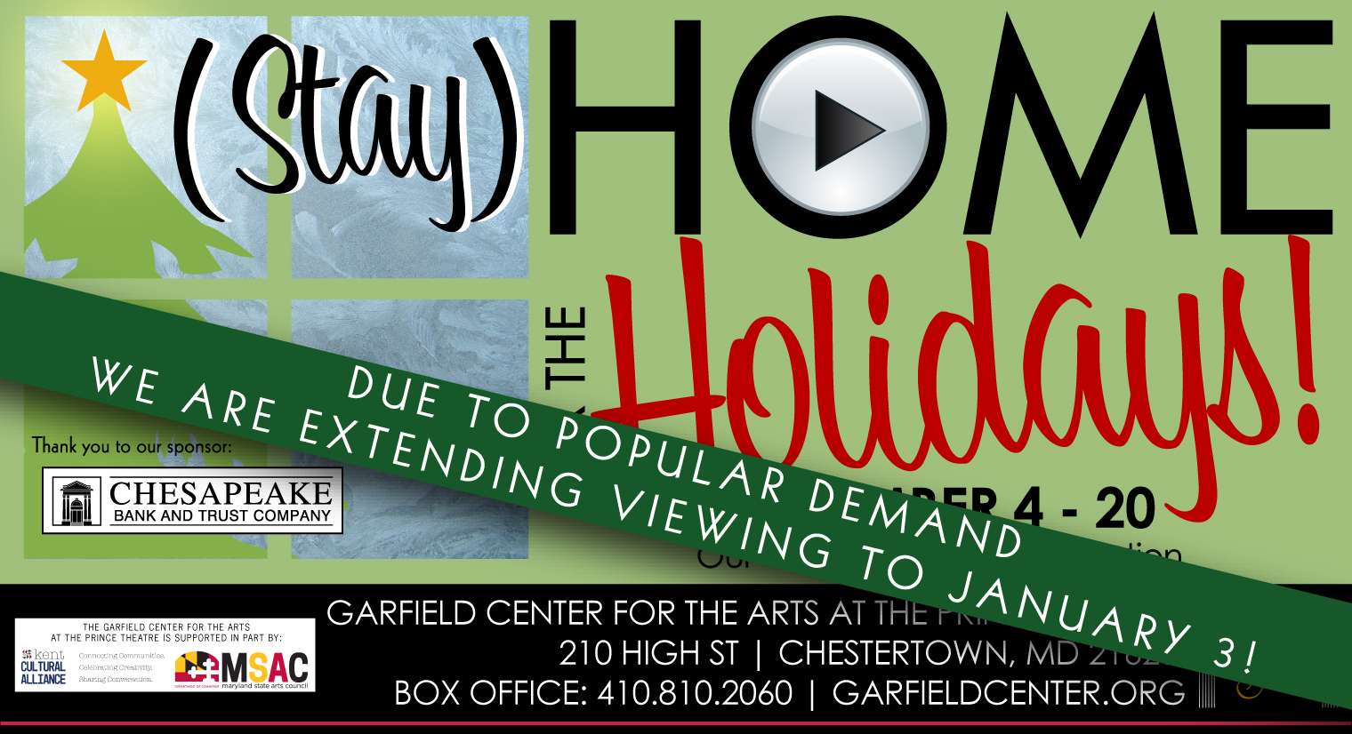 """By Popular Demand Garfield Center Extends """"(Stay) Home for the Holidays"""" Online Programming Through Jan. 3"""